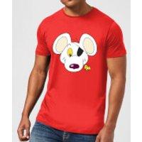 Danger Mouse Face & Logo Men's T-Shirt - Red - S - Red