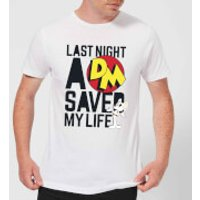 Danger Mouse Last Night A DM Saved My Life Men's T-Shirt - White - 5XL - White - Life Gifts