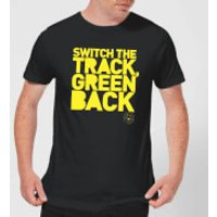 Danger Mouse Switch The Track Green Back Men's T-Shirt - Black - S - Black