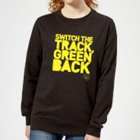 Danger Mouse Switch The Track Green Back Women's Sweatshirt - Black - XL - Black