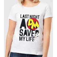 Danger Mouse Last Night A DM Saved My Life Women's T-Shirt - White - 5XL - White - Life Gifts
