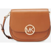 MICHAEL MICHAEL KORS Womens Lillie Medium Saddle Messenger Bag - Acorn