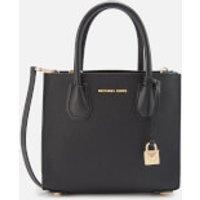 Michael Michael Kors Mercer Medium Acrdion Messenger Bag - Black