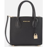 MICHAEL MICHAEL KORS Womens Mercer Medium Acrdion Messenger Bag - Black