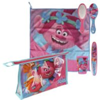 Trolls Princess Poppy & DJ Suki Overnight Wash Bag and Travel Accessory Set - Pink - Trolls Gifts