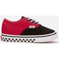 Vans Toddlers' Logo Pop Authentic Trainers - Black/True White - UK 7 Toddler