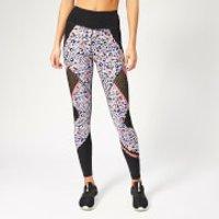 Superdry Sport Women's Active Mesh Panel Leggings - Lola Leopard Coral Print - XS/UK 8 - Multi