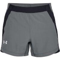 Under Armour Qualifer Speed Pocket 5 Inch Running Shorts - XL - Grey