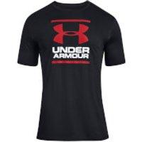 Under Armour Men's Foundation Short Sleeve T-Shirt - Charcoal Medium Grey Heather - L - Black
