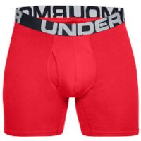 Under Armour Charged Cotton 6 Inch 3-Pack Boxerjocks - L - Red