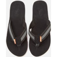 Superdry Men's Cove 2.0 Flip Flops - Black/Charcoal - S/UK 6-7 - Black