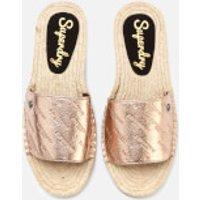 Superdry Women's Maya Slide Espadrille Sandals - Rose Gold Crackle - UK 3 - Gold