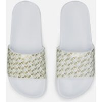 Superdry Women's Repeat Jelly Pool Slide Sandals - Optic White/Gold - L/UK 7-8 - White