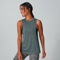 Camiseta con Sisas Caídas - Gris - M