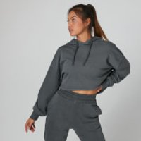 MP Washed Cropped Hoodie - Carbon - M