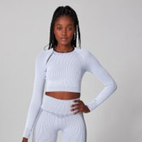 MP Contrast Rib Seamless Long Sleeve Crop Top - S