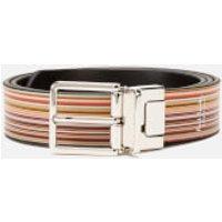 Paul Smith Men's Stripe Reversible Belt - Multi - W30 - Multi