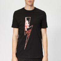 Neil Barrett Men's Floral Thunderbolt T-Shirt - Black/Multi - M - Black