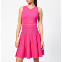 MICHAEL MICHAEL KORS Women's Grommit Lace And Crew Dress - Electric Pink - XS - Pink
