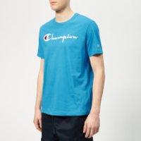 Champion Men's Script T-Shirt - Blue - L - Blue
