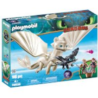 Playmobil DreamWorks Dragons Light Fury with Baby Dragon and Children (70038) - Playmobil Gifts