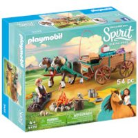 Playmobil DreamWorks Spirit Lucky's Dad and Wagon (9477) - Playmobil Gifts