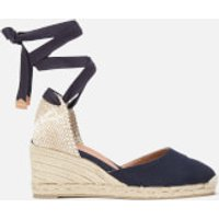 Castaner Women's Carina Espadrille Wedged Sandals - Azul Marino - UK 7 - Blue