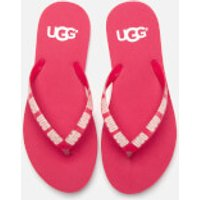 UGG Women's Simi Graphic Flip Flops - Sweet Sangria - UK 7