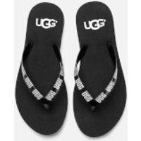 UGG Women's Simi Graphic Flip Flops - Black - UK 6