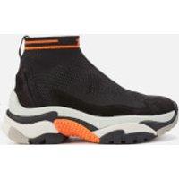 Ash Addict Stretch Knit Hi-top Trainers - Black/orange