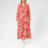 Whistles Women's Confetti Floral Print Midi Dress - Red/Multi - UK 8 - Red