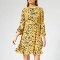Whistles Women's Animal Print Flippy Dress - Cream/Multi - UK 10 - Cream