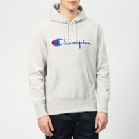 Champion Men's Script Overhead Hoodie - Grey - S
