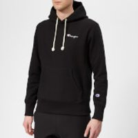Champion Men's Small Logo Hooded Sweatshirt - Black - XS