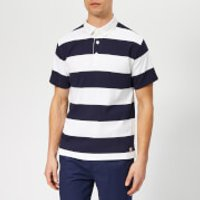 Armor Lux Men's Rugby Top - Blanc/Navire - S - Blue