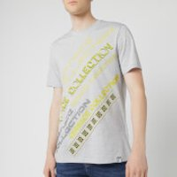 Versace Collection Men's Neon Logo T-Shirt - Grey - M - Grey