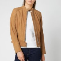 BOSS Women's Jutah Suede Jacket - Tan - UK 6