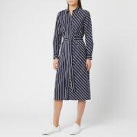 HUGO Women's Elowen Stripe Dress - Navy - UK 6