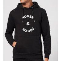 Homer & Marge Hoodie - Black - M - Black - Homer Gifts