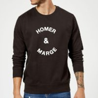 Homer & Marge Sweatshirt - Black - 5XL - Black - Homer Gifts