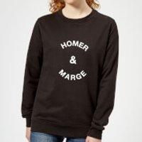 Homer & Marge Women's Sweatshirt - Black - 5XL - Black - Homer Gifts