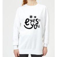 Eyes On You Women's Sweatshirt - White - 3XL - White