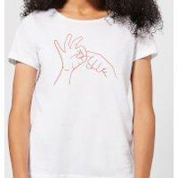 Sexy Hand Gesture Women's T-Shirt - White - XS - White