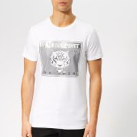 Plein Sport Men's Round Neck Tiger T-Shirt - White - L - White