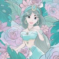 Aladdin (Floral Jasmine) 40 x 40cm Canvas Print - Princess Jasmine Gifts