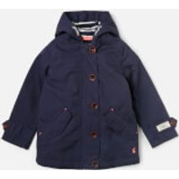 Joules Girl's Coast Hooded Jacket - French Navy - 4 Years - Blue