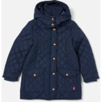Joules Girl's Newdale Quilted Coat - French Navy - 5 Years - Blue