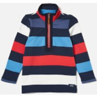 Joules Boys' Dale Half Zip Sweatshirt - Blue Red Stripe - 4 Years - Multi