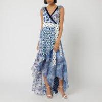 Diane von Furstenberg Women's Ava Dress - Berries Ivory Multi - M - Blue