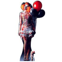 IT IS A VERY Scary Female Clown Lifesize Cardboard Cut Out - Scary Gifts